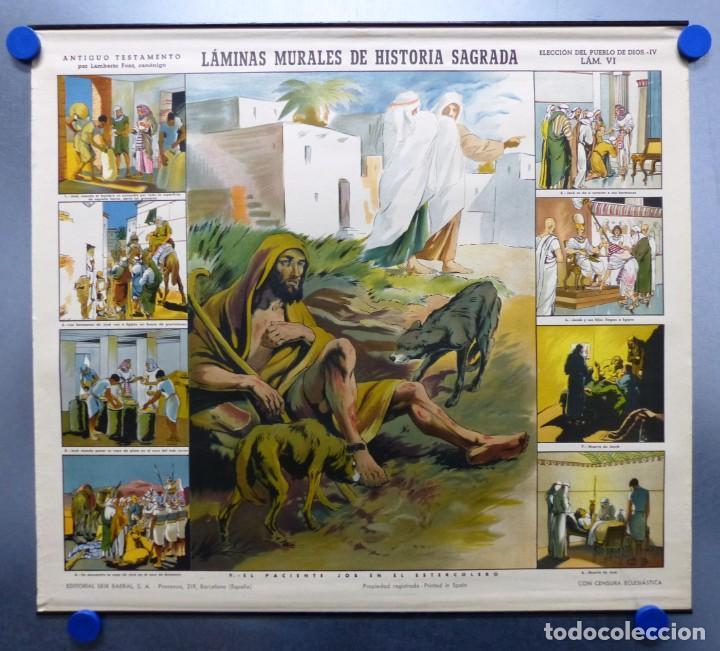 Arte: 10 LAMINAS MURALES DE HISTORIA SAGRADA, ED. SEIX BARRAL, AÑOS 1950 - VER FOTOS ADICIONALES - Foto 30 - 246644880
