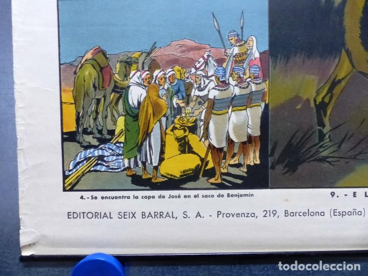 Arte: 10 LAMINAS MURALES DE HISTORIA SAGRADA, ED. SEIX BARRAL, AÑOS 1950 - VER FOTOS ADICIONALES - Foto 31 - 246644880