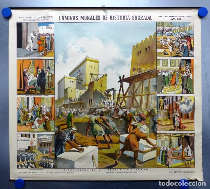 Arte: 10 LAMINAS MURALES DE HISTORIA SAGRADA, ED. SEIX BARRAL, AÑOS 1950 - VER FOTOS ADICIONALES - Foto 40 - 246644880