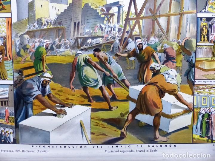 Arte: 10 LAMINAS MURALES DE HISTORIA SAGRADA, ED. SEIX BARRAL, AÑOS 1950 - VER FOTOS ADICIONALES - Foto 42 - 246644880