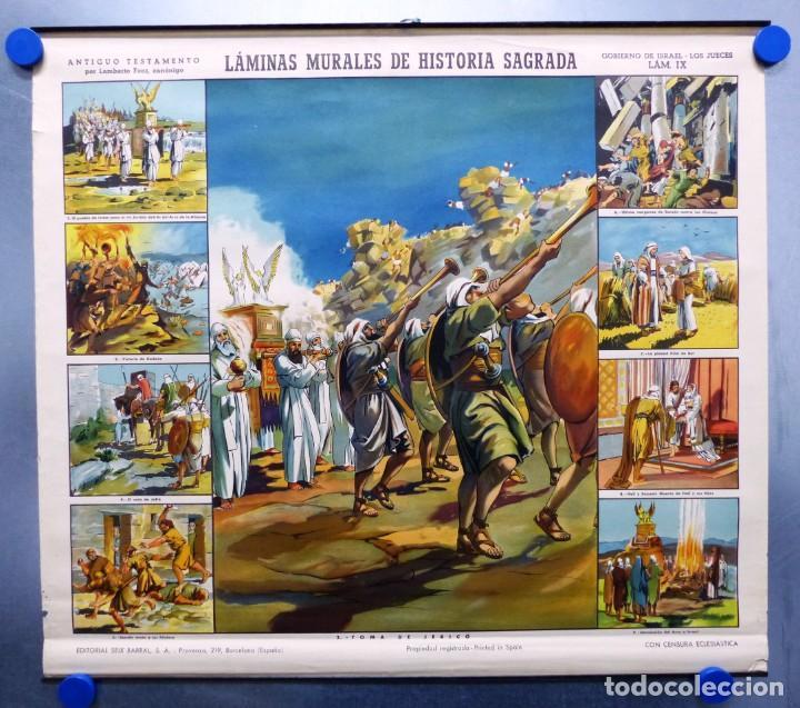 Arte: 10 LAMINAS MURALES DE HISTORIA SAGRADA, ED. SEIX BARRAL, AÑOS 1950 - VER FOTOS ADICIONALES - Foto 44 - 246644880