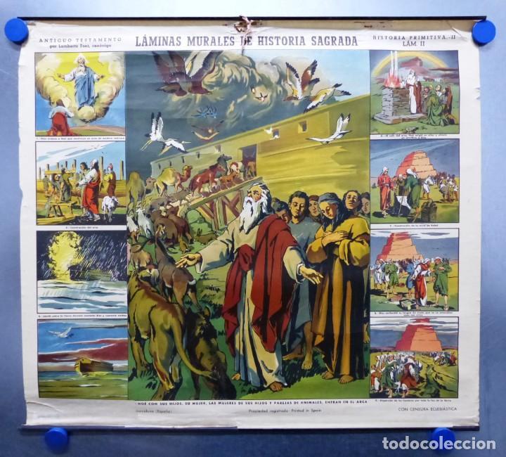 Arte: 10 LAMINAS MURALES DE HISTORIA SAGRADA, ED. SEIX BARRAL, AÑOS 1950 - VER FOTOS ADICIONALES - Foto 48 - 246644880