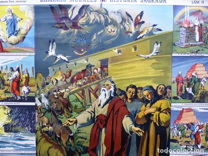 Arte: 10 LAMINAS MURALES DE HISTORIA SAGRADA, ED. SEIX BARRAL, AÑOS 1950 - VER FOTOS ADICIONALES - Foto 50 - 246644880