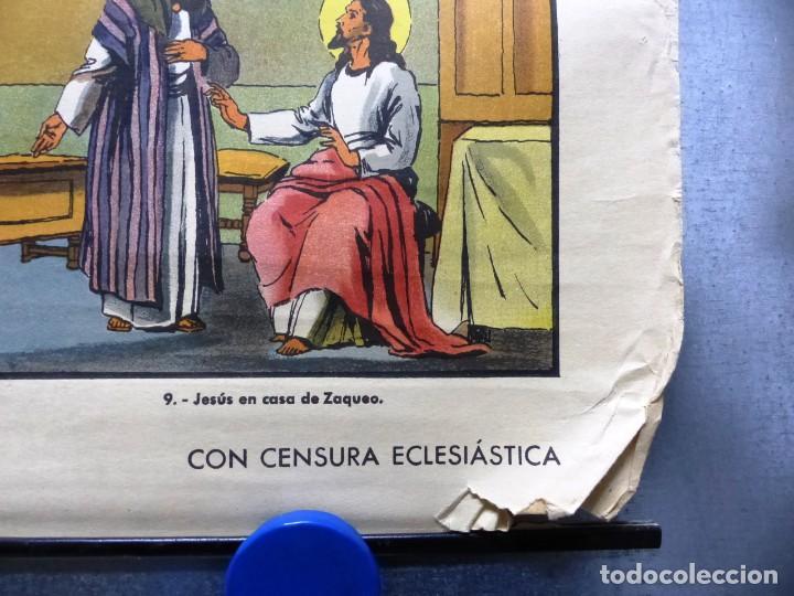 Arte: 10 LAMINAS MURALES DE HISTORIA SAGRADA, ED. SEIX BARRAL, AÑOS 1950 - VER FOTOS ADICIONALES - Foto 58 - 246644880