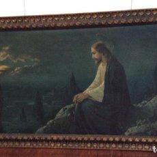 Arte: CUADRO DE JESÚS SENTADO EN EL MONTE DE LOS OLIVOS ,FINALES SIGLO XIX. Lote 246494205