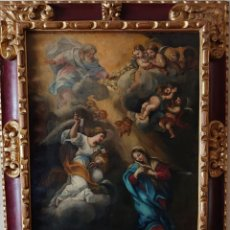 Arte: OLEO SOBRE LIENZO ASUNCION DE LA VIRGEN MARIA VICENTE LOPEZ PORTAÑA. Lote 246780450