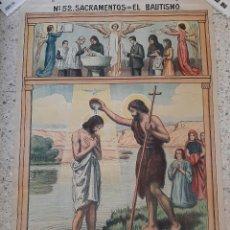 Arte: LÁMINA MURAL : Nº 52 BAUTISMO / 1912 ? 103 X 68 CMS.. Lote 246800700