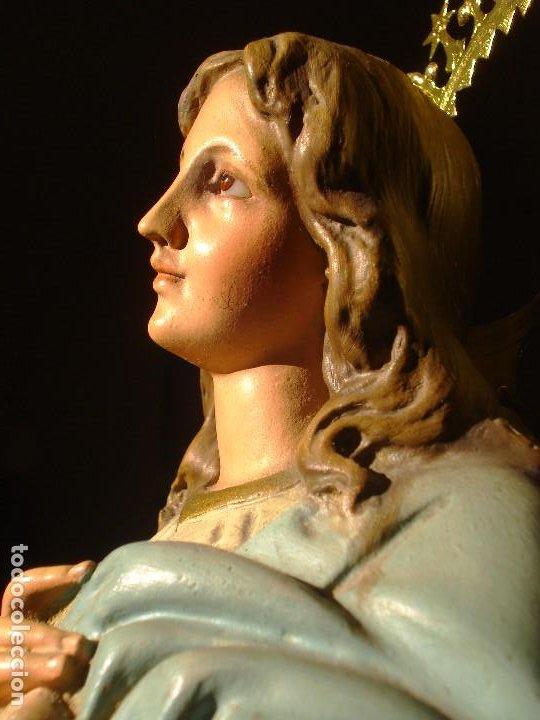 INMACULADA CONCEPCIÓN CON ANGELES PASTA DE MADERA PEDRO LLORET (Arte - Arte Religioso - Escultura)