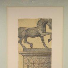 Arte: JOSEP MARIA SUBIRACHS, ECUESTRE, 1983, GRABADO, TIRAJE 7 / 500, CON DEDICATORIA Y CERTIFICADO.. Lote 246861175