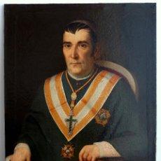 Arte: ANTONIO MARTÍ SORDO MUDO - RETRATO DE MONSEÑOR GIL ESTEVE, 1855. ÓLEO SOBRE TELA 67X82 CM.. Lote 246947055