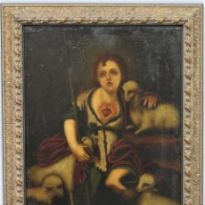 Art: BUEN PASTOR NIÑO. OLEO S/ LIENZO. SIGLO XVIII. ESCUELA ESPAÑOLA. Lote 246980835