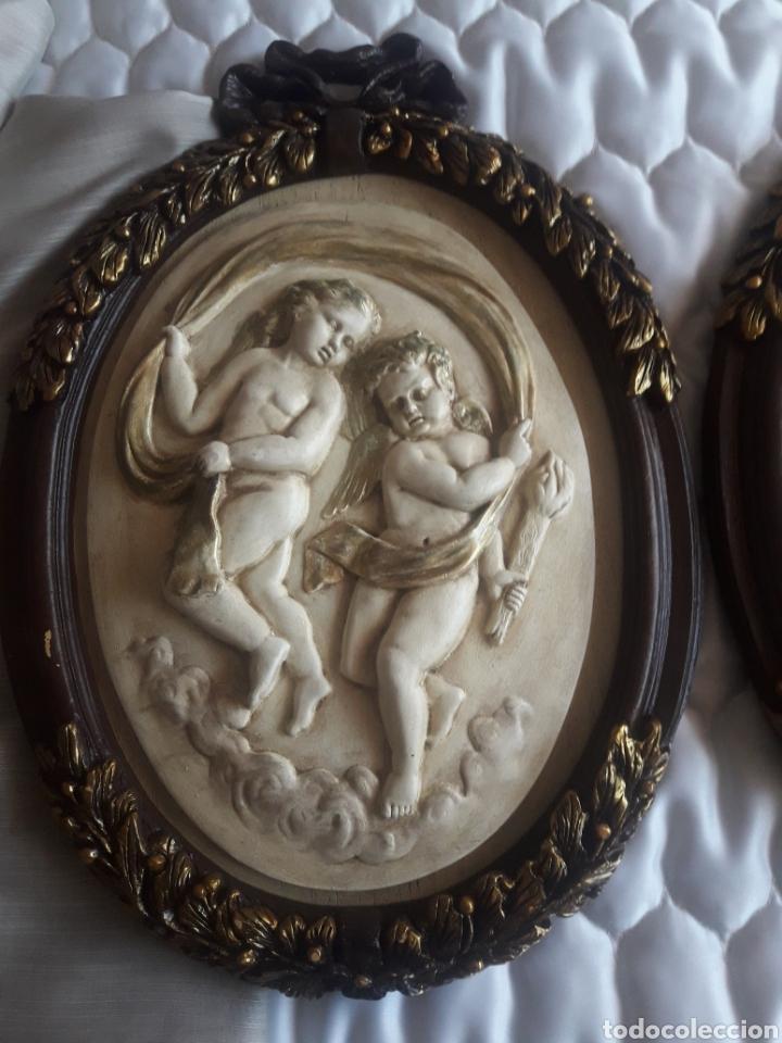Arte: Dos cuadros de ángeles de resina - Foto 3 - 247078790