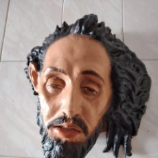 Arte: CABEZA DE CRISTO ESCULPIDA EN TERRACOTA DE ESCULTOR ILICITANO, AÑOS 80.. Lote 247184465