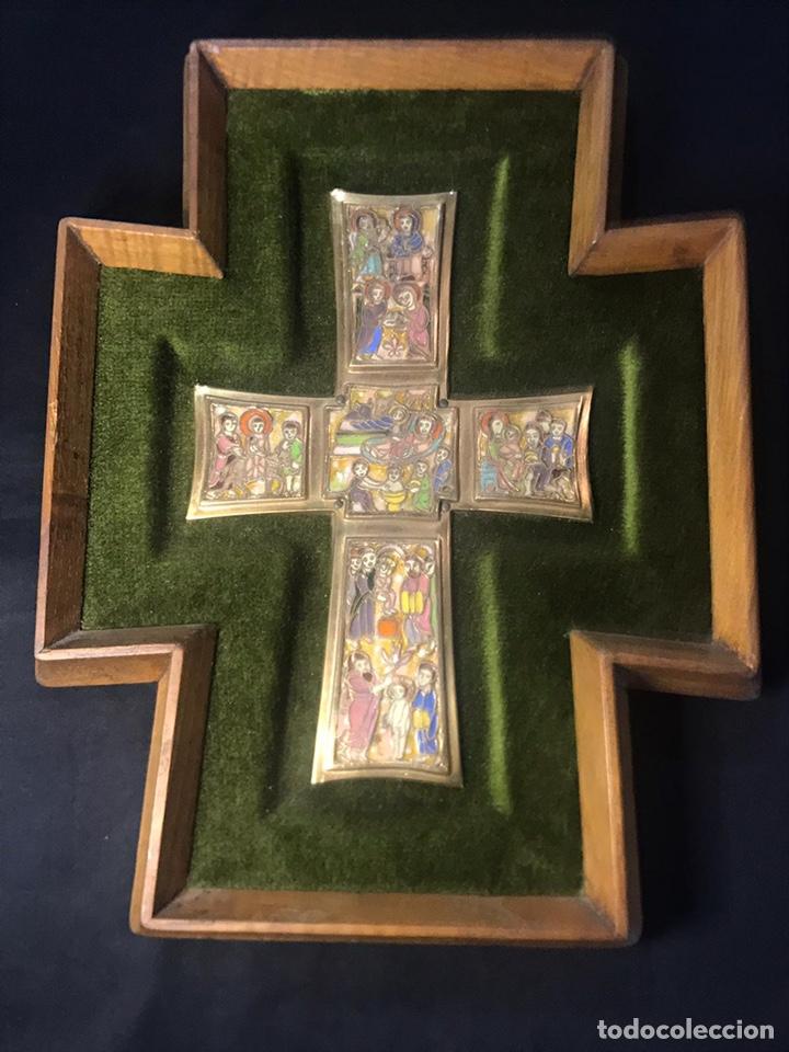 CRUZ MODEST MORATO, INSPIRADA EN LA CRUZ DEL TESORO VATICANO (Arte - Arte Religioso - Retablos)