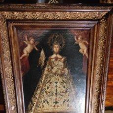 Arte: ÓLEO SOBRE LIENZO - VIRGEN CON EL NIÑO - CÍRCULO DE ANTONIO PALOMINO XVII. Lote 247408410