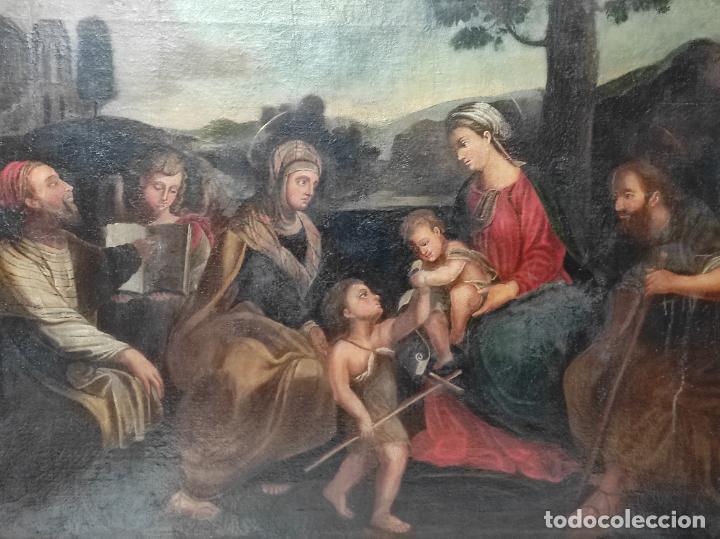 Arte: Adoración de San Juanito, con Santa Isabel, San Mateo y Ángel - Escuela Española - S. XVII - Foto 2 - 247467275