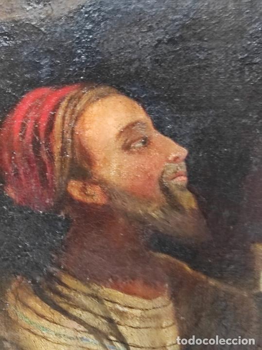 Arte: Adoración de San Juanito, con Santa Isabel, San Mateo y Ángel - Escuela Española - S. XVII - Foto 4 - 247467275