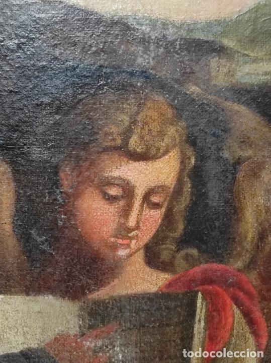 Arte: Adoración de San Juanito, con Santa Isabel, San Mateo y Ángel - Escuela Española - S. XVII - Foto 6 - 247467275