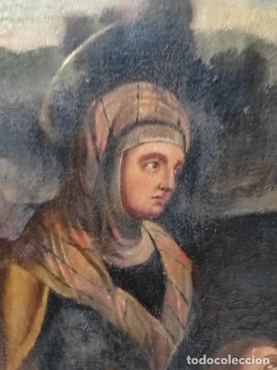 Arte: Adoración de San Juanito, con Santa Isabel, San Mateo y Ángel - Escuela Española - S. XVII - Foto 8 - 247467275