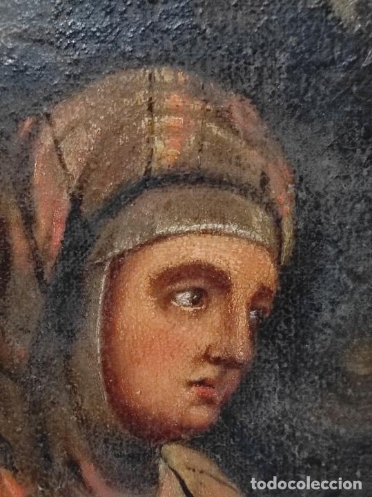 Arte: Adoración de San Juanito, con Santa Isabel, San Mateo y Ángel - Escuela Española - S. XVII - Foto 9 - 247467275