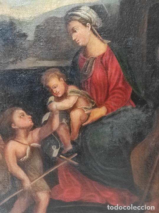 Arte: Adoración de San Juanito, con Santa Isabel, San Mateo y Ángel - Escuela Española - S. XVII - Foto 10 - 247467275