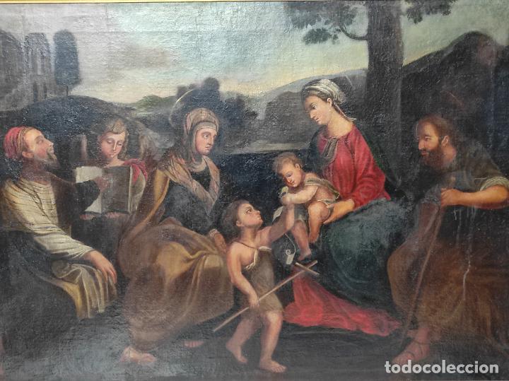 Arte: Adoración de San Juanito, con Santa Isabel, San Mateo y Ángel - Escuela Española - S. XVII - Foto 14 - 247467275