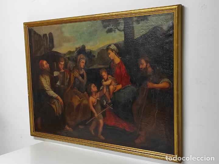Arte: Adoración de San Juanito, con Santa Isabel, San Mateo y Ángel - Escuela Española - S. XVII - Foto 19 - 247467275