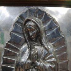 Arte: VIRGEN MARÍA EN METAL PLATEADO. Lote 247796630