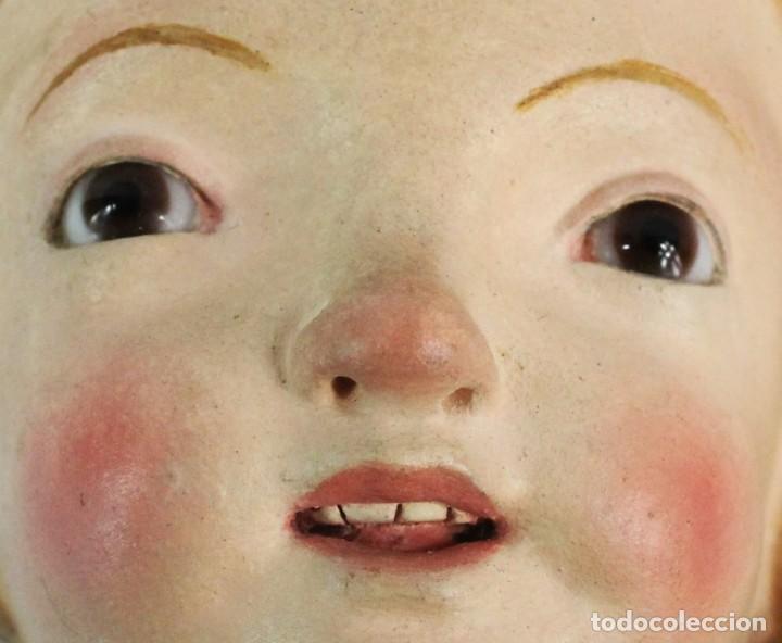 Arte: Gran Virgen del Carmen con niño. Cap pota en madera, ojos cristal, sedas, bordados. ca 1880. 97cm. - Foto 2 - 247953185