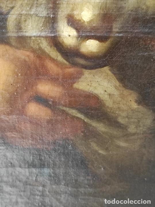 Arte: Óleo sobre Tela - San Juanito el Buen Pastor - Circulo Murillo - Escuela Sevillana - S.XVIII - Foto 8 - 247994155