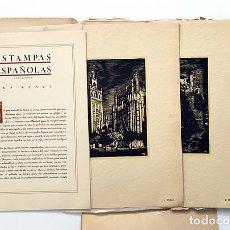 Arte: ESTAMPAS ESPAÑOLAS. 10 GRABADOS POR BENET. (C 1930) ÁVILA, SEGOVIA, CUENCA, CÓRDOBA, RONDA - EL. Lote 247996045