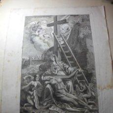 Arte: MAGNIFICO ANTIGUO GRABADO DEL SIGLO XVII-XVIII NUESTRA SEÑORA DE LOS DOLORES. Lote 248101110
