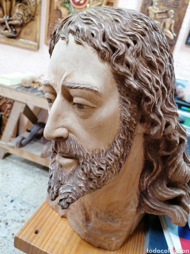 CABEZA TALLADA EN MADERA (Arte - Arte Religioso - Escultura)