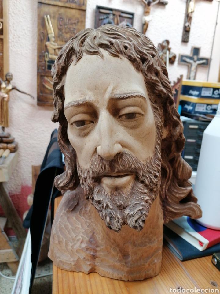 Arte: Cabeza tallada en madera - Foto 3 - 248555870
