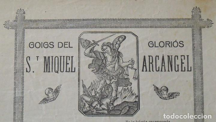 Arte: Goigs. Gozos. Sant Miquel. San Miguel. Arcàngel. 32x22 cm. Imprenta Bonet. 1946. - Foto 2 - 248587240