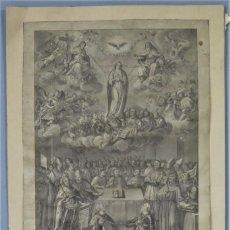Arte: GRABADO. LA INMACULADA CONCEPCION DE MARIA A CARLOS IV. VICENTE CAPILLA (1767?-1817). Lote 248817340