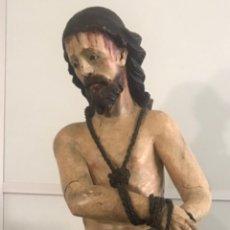 """Arte: ESCULTURA DE EXTRAORDINARIA CALIDAD """"CRISTO ATADO A LA COLUMNA"""". SIGLO XVIII. Lote 249048030"""