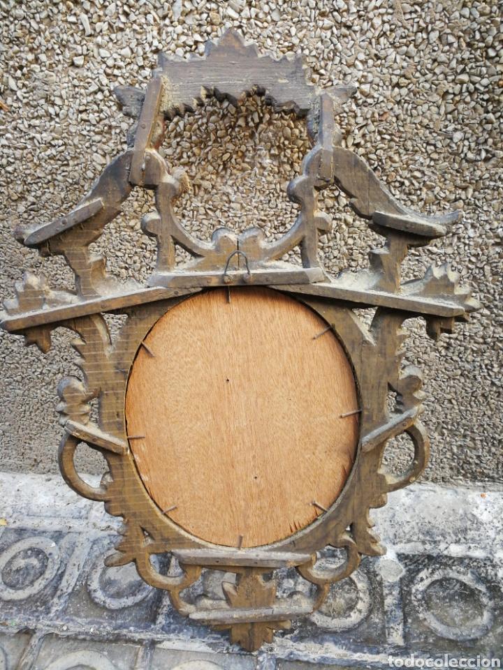 Arte: CORNUCÓPIA SAN JOSÉ Y NIÑO JESÚS (PINTURA ESCUELA ESPAÑOLA) SOBRE CRISTAL, S.XVIII,46CM. PAN DE ORO. - Foto 7 - 249537825