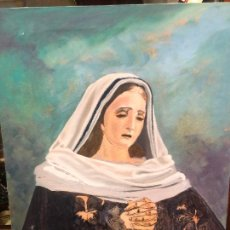 Arte: OLEO SOBRE LIENZO VIRGEN SOLEDAD DE MALAGA - MEDIDA 61X50 CM - SEMANA SANTA - RELIGIOSO. Lote 250123115