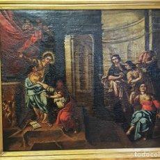 Arte: ANTIGUO OLEO SOBRE LIENZO ,RELIGIOSO. Lote 250276445