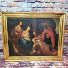 Arte: ANTIGUO OLEO SOBRE LIENZO ,RELIGIOSO. Lote 250276650