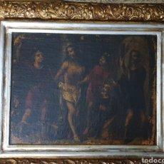 Arte: OLEO DEL SIGLOXVIII JESUS AMARRADO A LA COLUMNA. Lote 251071730