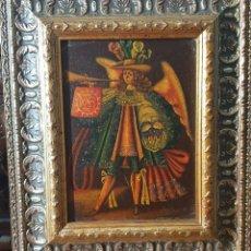 Arte: ANGEL TROMPETERO DE LA ESCUELA CUZQUEÑA DE PERÚ DE MAS DE 50 AÑOS DE ANTIGUEDAD. Lote 251072570