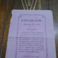 Arte: EL EMPLAZADO ANTE DIOS.ENTREGA 3°Y 4° DOCUMENTO RELIGIOSO.. Lote 251090865