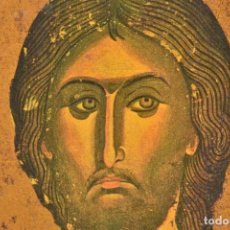 Arte: ANTIGUO ICONO EN MADERA BIZANTINO JESUCRISTO PANTOCRATOR. Lote 251166330