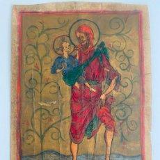 Arte: ANTIGUA PINTURA RELIGIOSA , SOBRE CARTÓN. Lote 251319740
