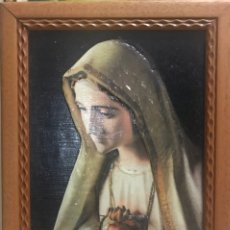Arte: CUADRO RELIGIOSO VIRGEN MARIA INMACULADA - DECORACION IGLESIA RELIGION DIOS CORAZON. Lote 251487620