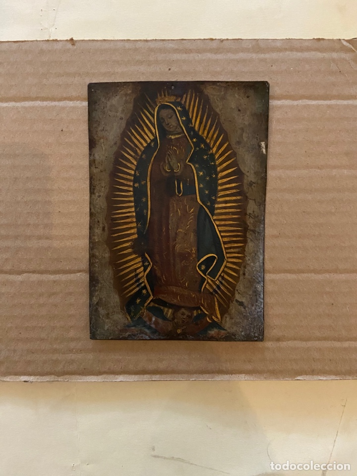 Arte: Virgen de Guadalupe pintada sobre metal - Foto 2 - 251744630