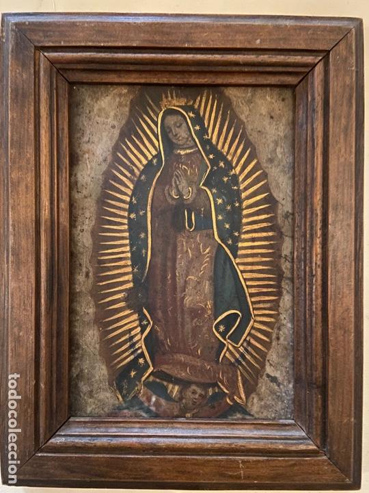 VIRGEN DE GUADALUPE PINTADA SOBRE METAL (Arte - Arte Religioso - Pintura Religiosa - Oleo)