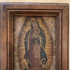 Arte: VIRGEN DE GUADALUPE PINTADA SOBRE METAL. Lote 251744630